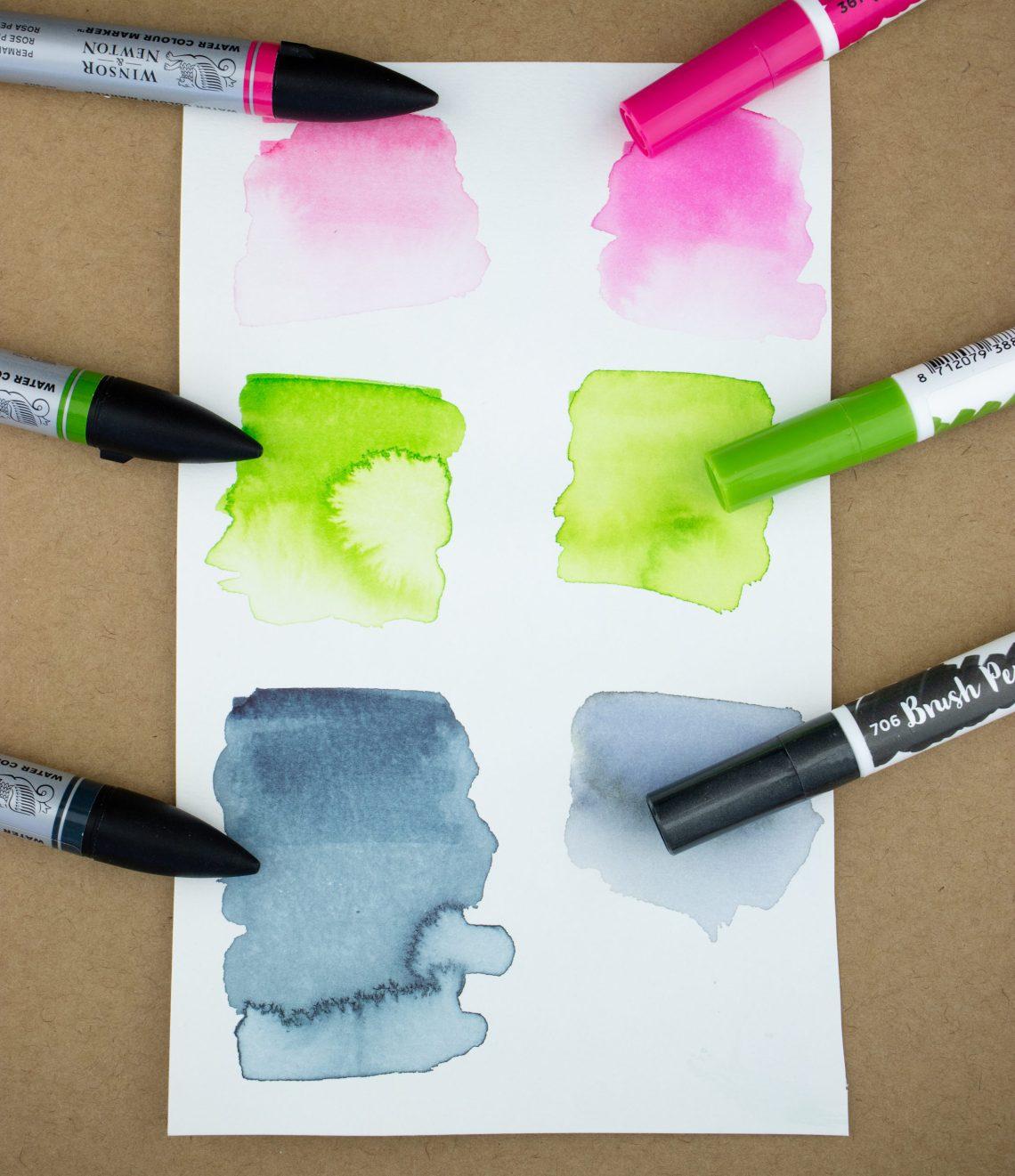 Ecoline Brush Pens vs W&N