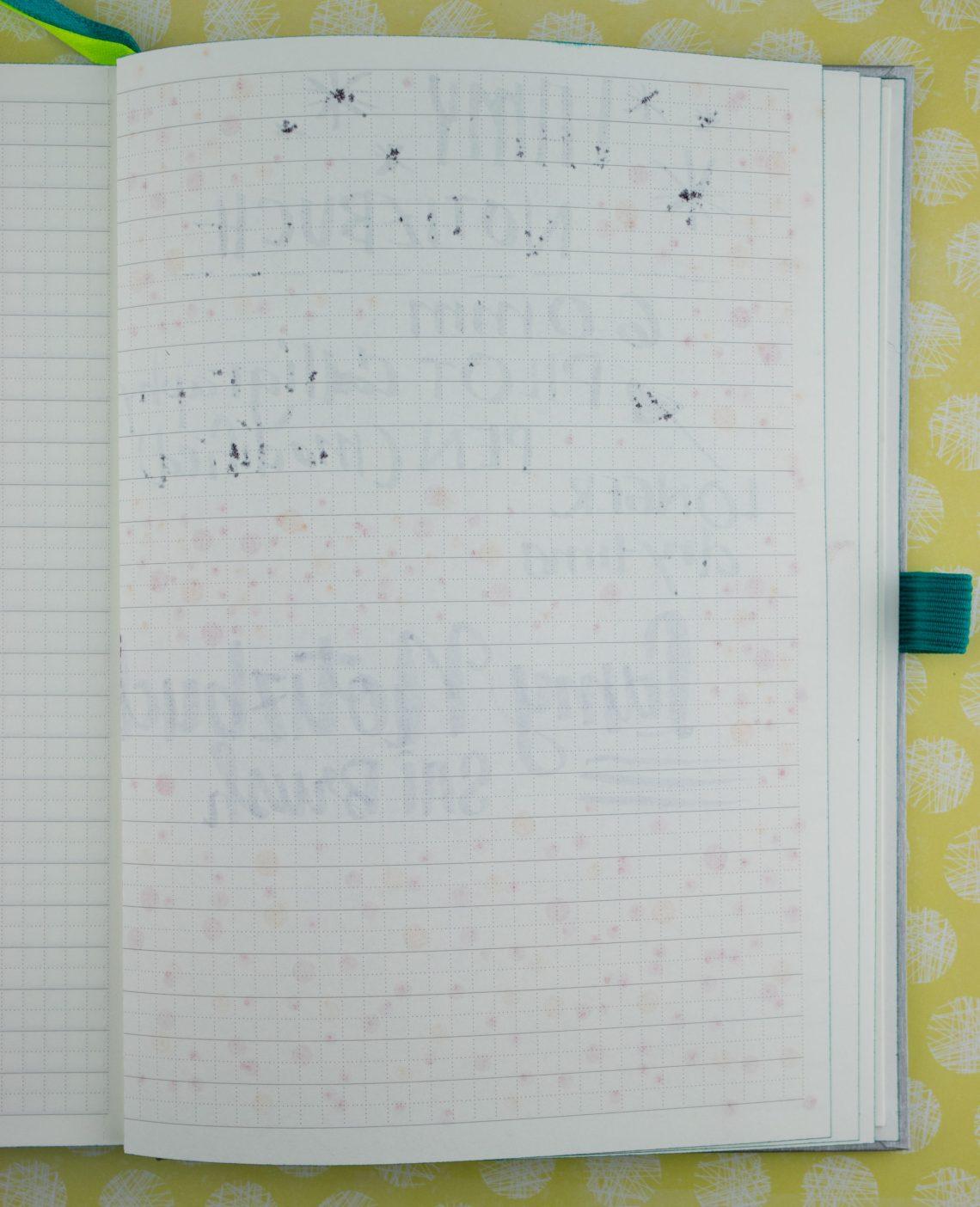 Lamy Notebook writing reverse of stock 2