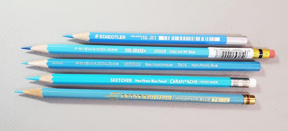 non-photo blue pencils