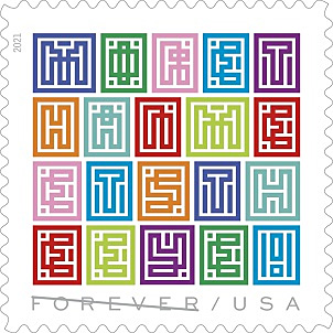 Mystery Message Forever Stamp