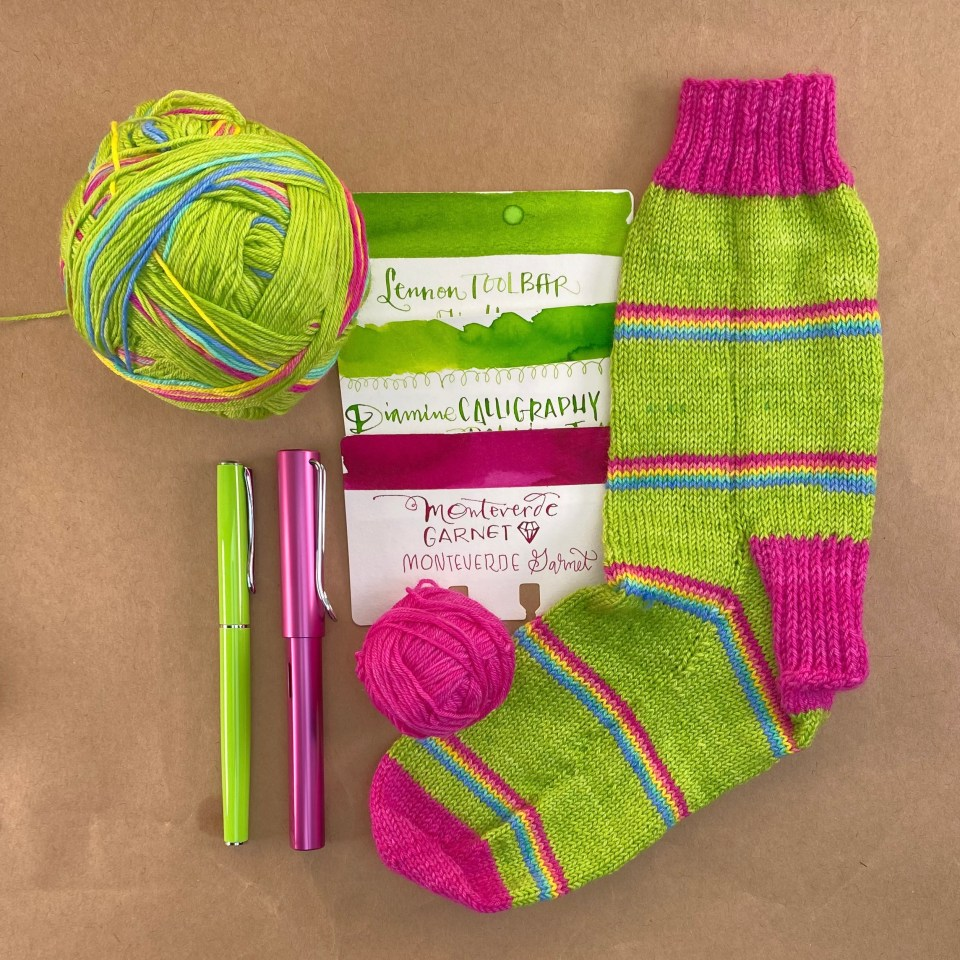 Yarn + Ink : Sour Skittles
