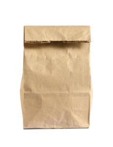 Lunch bag isolated on white background