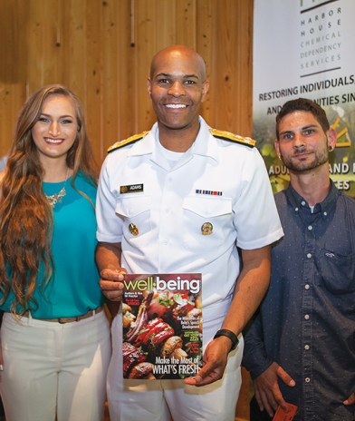 US Surgeon General checks out Well-Being while visiting Harbor House.