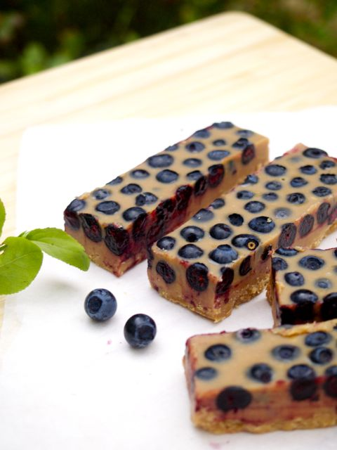 Lovely lucuma-blueberry fudge