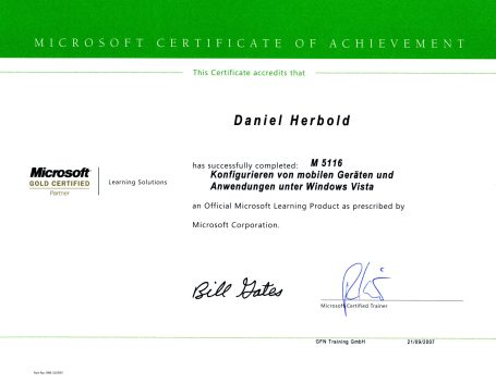 Microsoft Schulung M5116