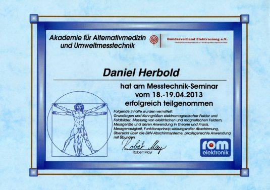 Teilnahme Seminar für Messtechniker