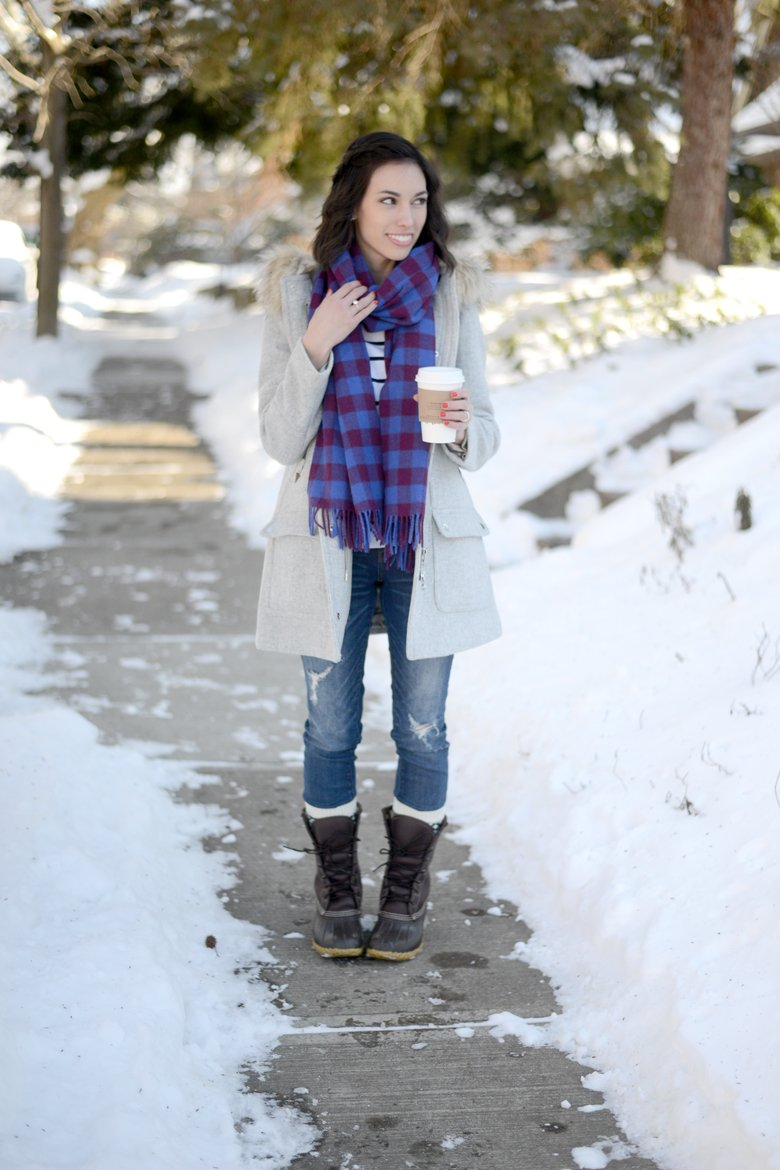 Wellesley & King   winter outfit, winter coat, bean boots, jcrew parka, jcrew coat, classic outfit, casual outfit
