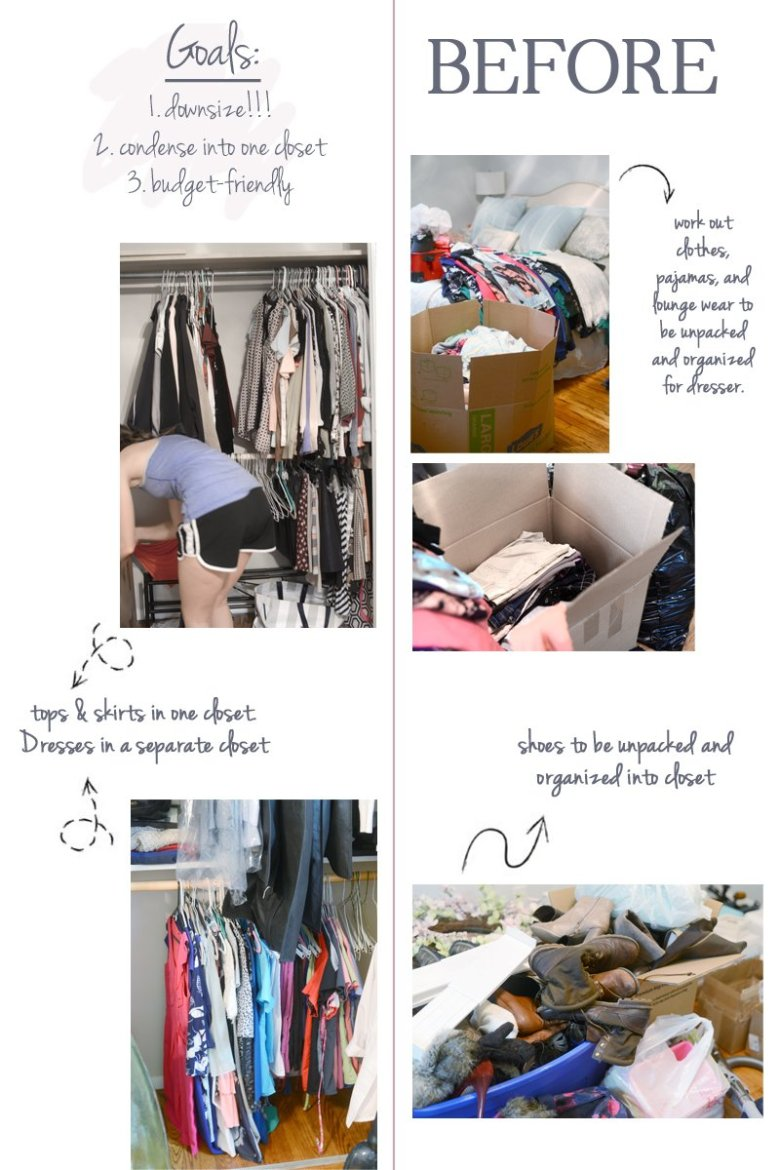 bedroom closet reorganization | Closet Reorganization Tips for Moving Into a New Home featured by top US life and style blog, Wellesley & King