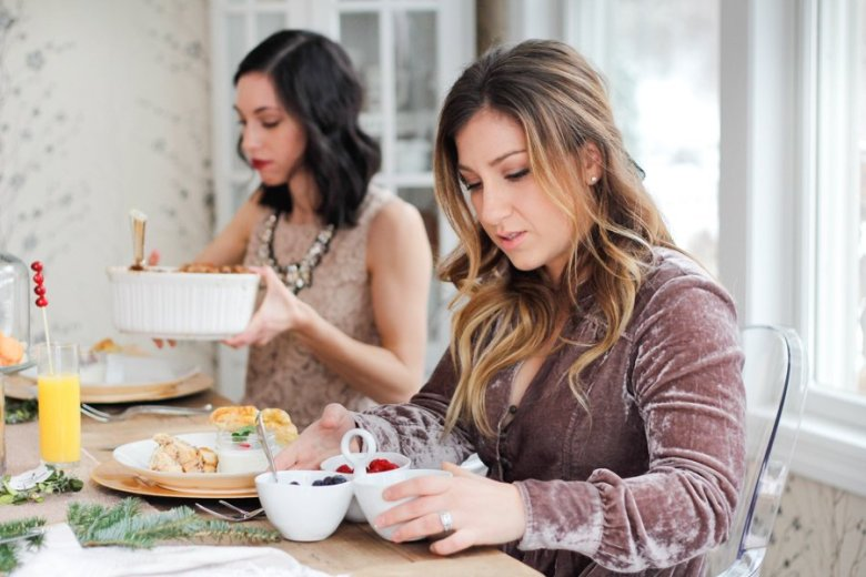 feminine winter brunch | Feminine winter brunch recipes and outfits featured by top Pittsburgh life and style blog, Wellesley and King