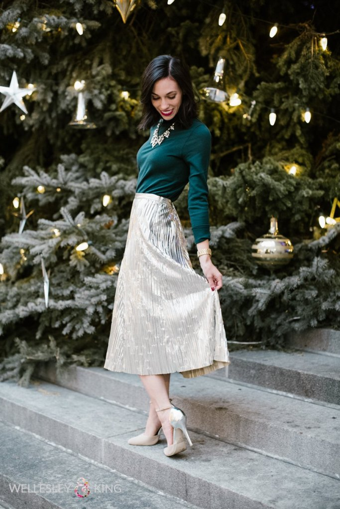 Top 4 Holiday Trends to wear year after year: sequins featured by top Pittsburgh fashion blog, Wellesley & King