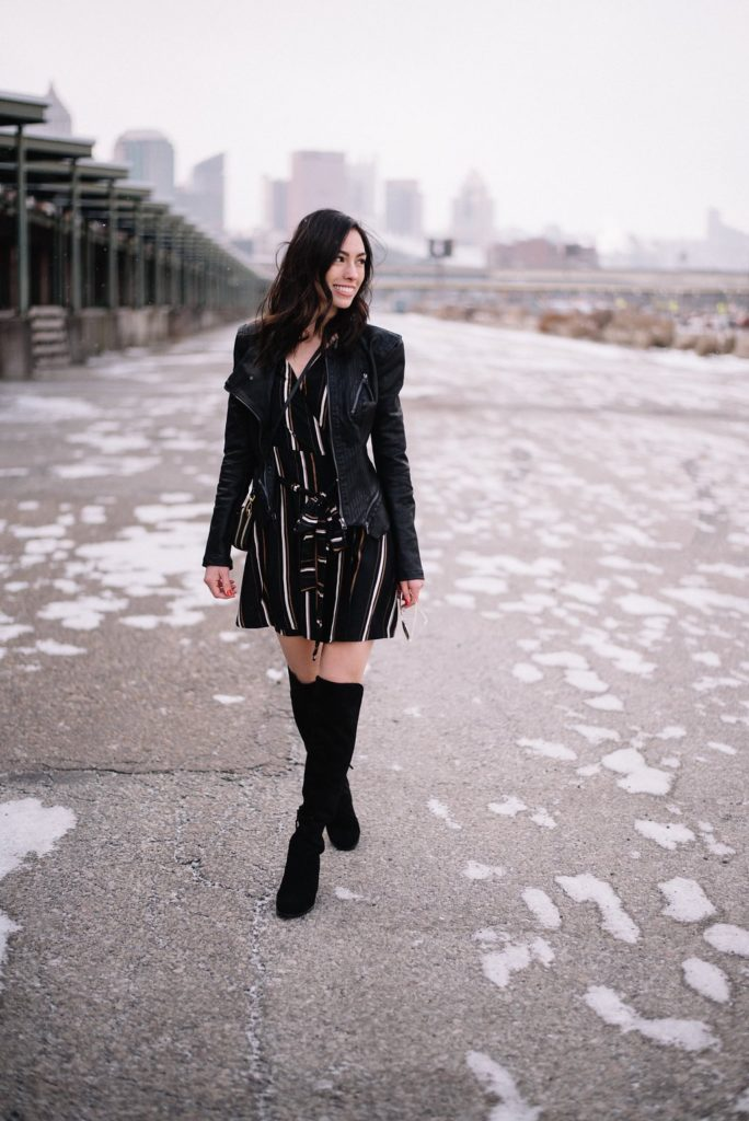 otk boots-petite leather jacket-wellesley and king-@wellesleynking | Where to Find the Best Black Friday and Cyber Monday Deals featured by top Pittsburgh life and style blog, Wellesley & King