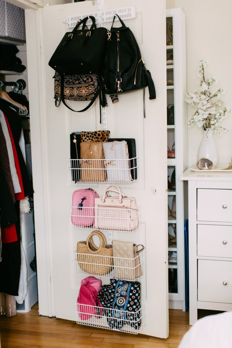 closet door organization-pittsburgh fashion blogger-wellesley and king | Closet Door Storage idea featured by top Pittsburgh fashion blog, Wellesley & King