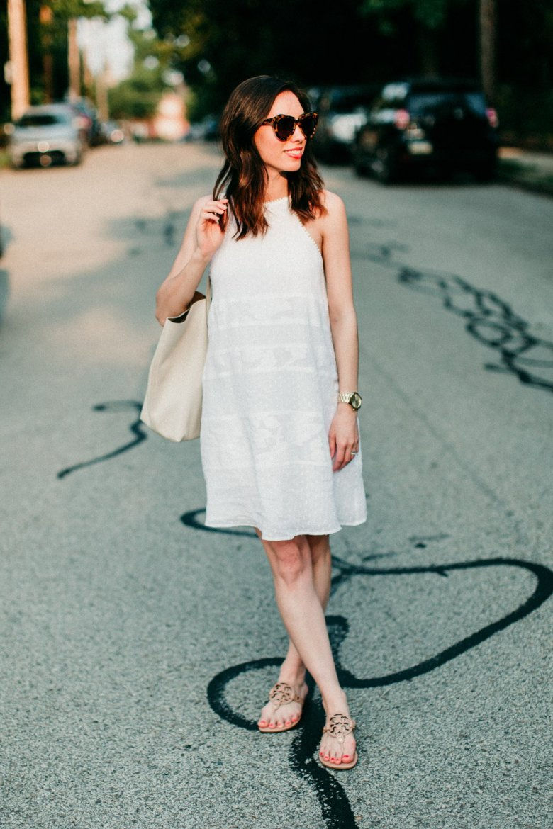 pittsburgh fashion blogger wellesley and king LOFT white summer dress
