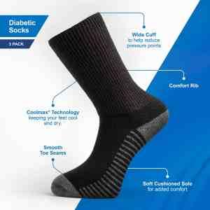 Well Heeled Diabetic Socks Specifications
