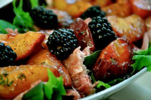 Plum & Blackberry Prosciutto Salad