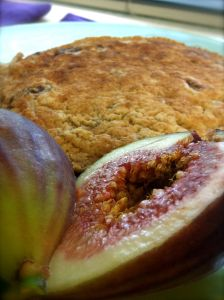 Heart Healthy Fig Banana Pecan Pancake