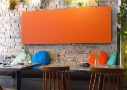 Panneau acoustique mural orange