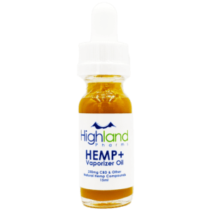 Highland Pharms CBD Vape Oil 10ml/165mg cbd thc ratio