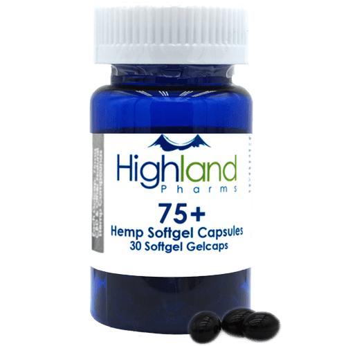 Highland Pharms 75mg CBD capsule