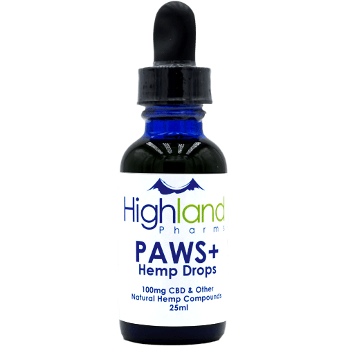 Highland Pharms Paws Pet CBD – 100mg
