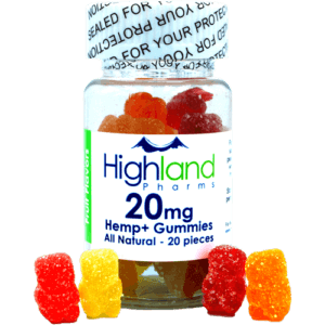 Highland Pharms All naturla CBD gummies - 20mg