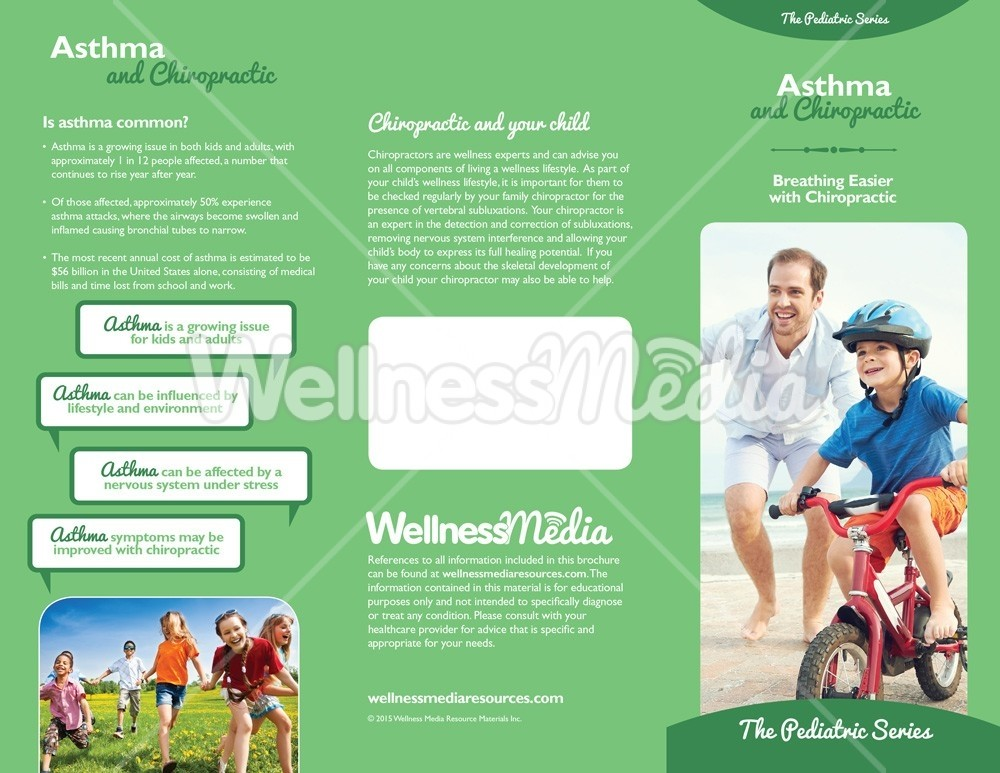 Chiropractic Care Flyers Templates - Asthma brochure template