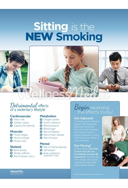 sitting is the new smoking chiropractic poster