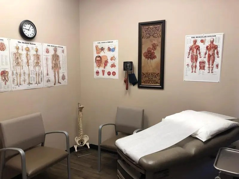 clinic patient care room