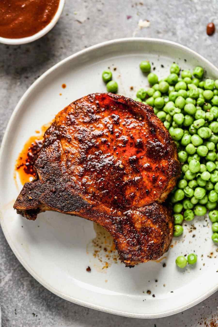 An easy air fryer pork chop