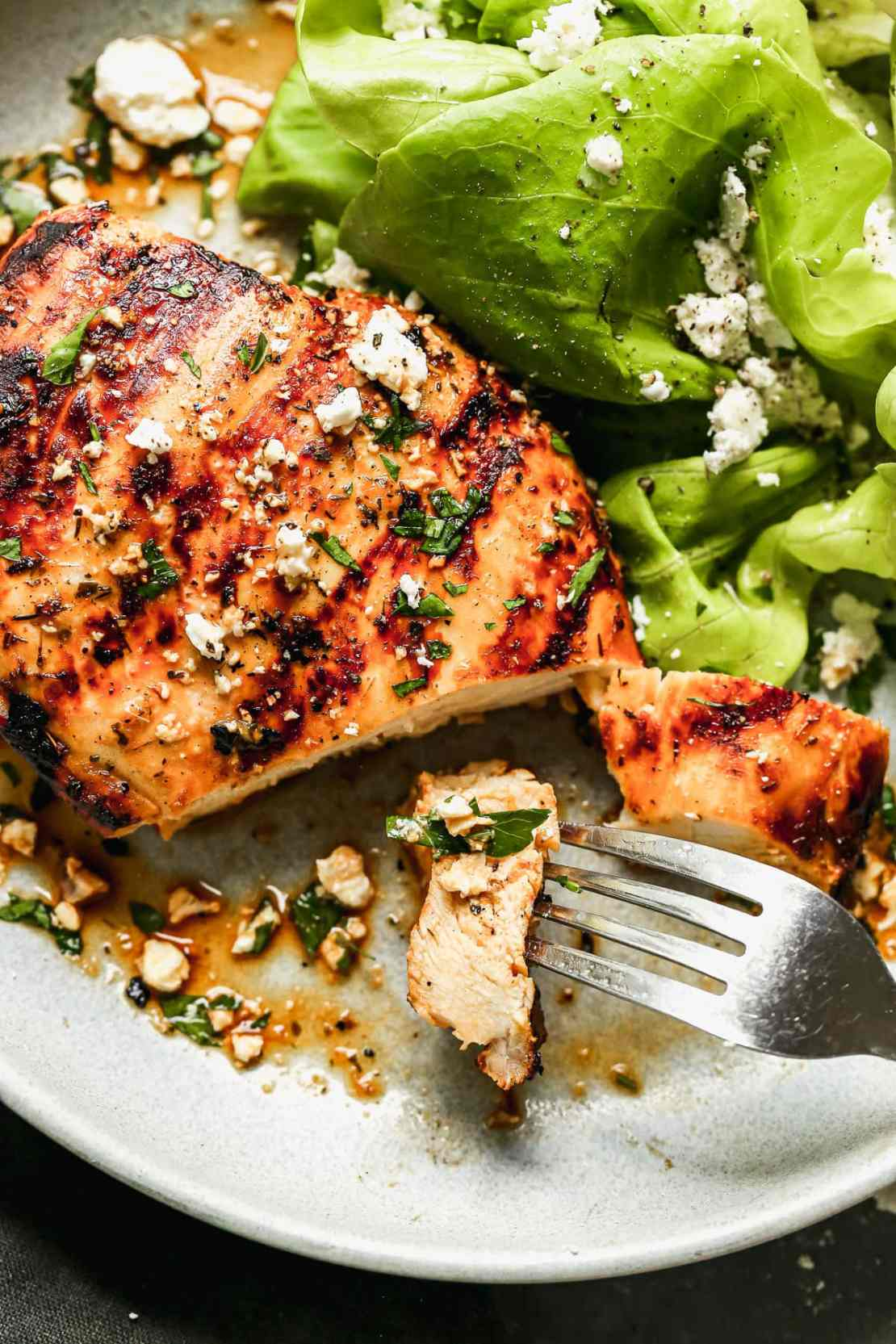 Grilled chicken breast on a plate