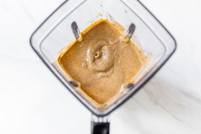 pumpkin batter for fluffy buckwheat pancakes made in a blender