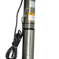 """Hallmark Industries MA0419X-12A Deep Well Submersible Pump, 2 hp, 230V, 60 Hz, 35 GPM, 400' Head, Stainless Steel, 4"""""""