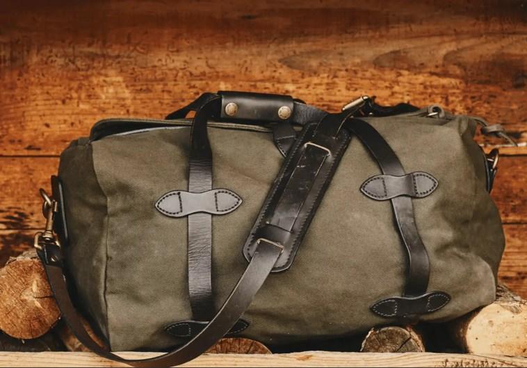 durable canvas duffel bag