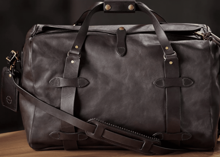 durable leather duffel bag