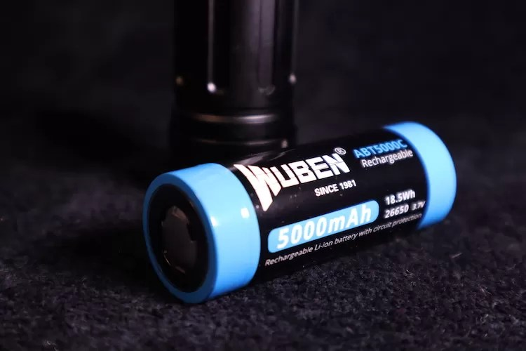 wuben t70 26650 battery