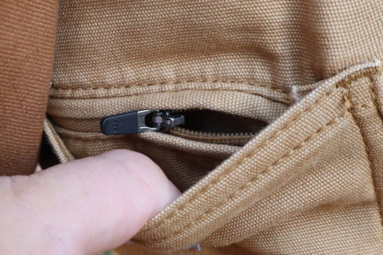Carhartt Pants hidden zip pocket