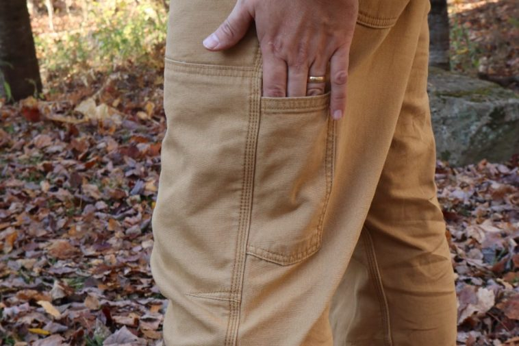 Carhartt pants left utility pocket