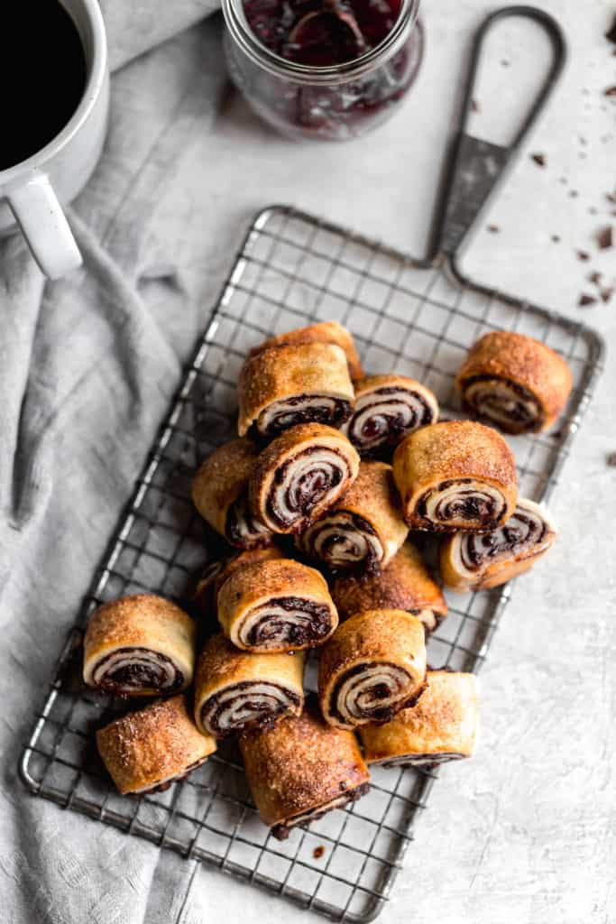 Chocolate raspberry rugelach