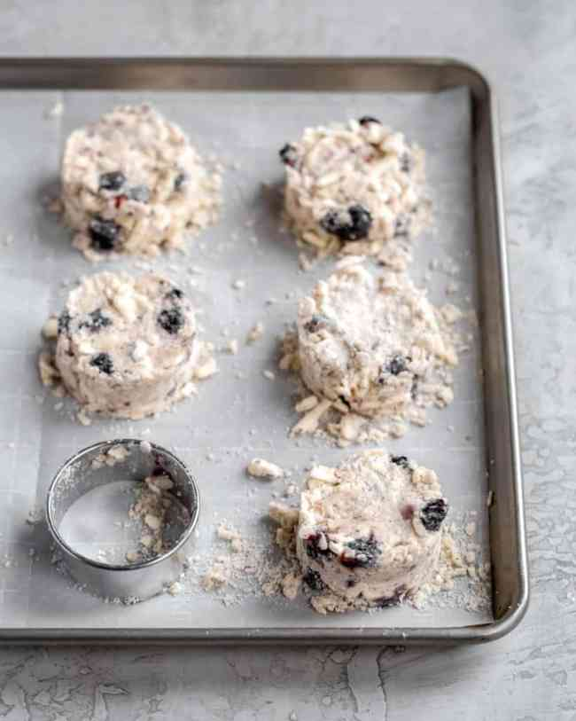 coffee kissed blueberry scones