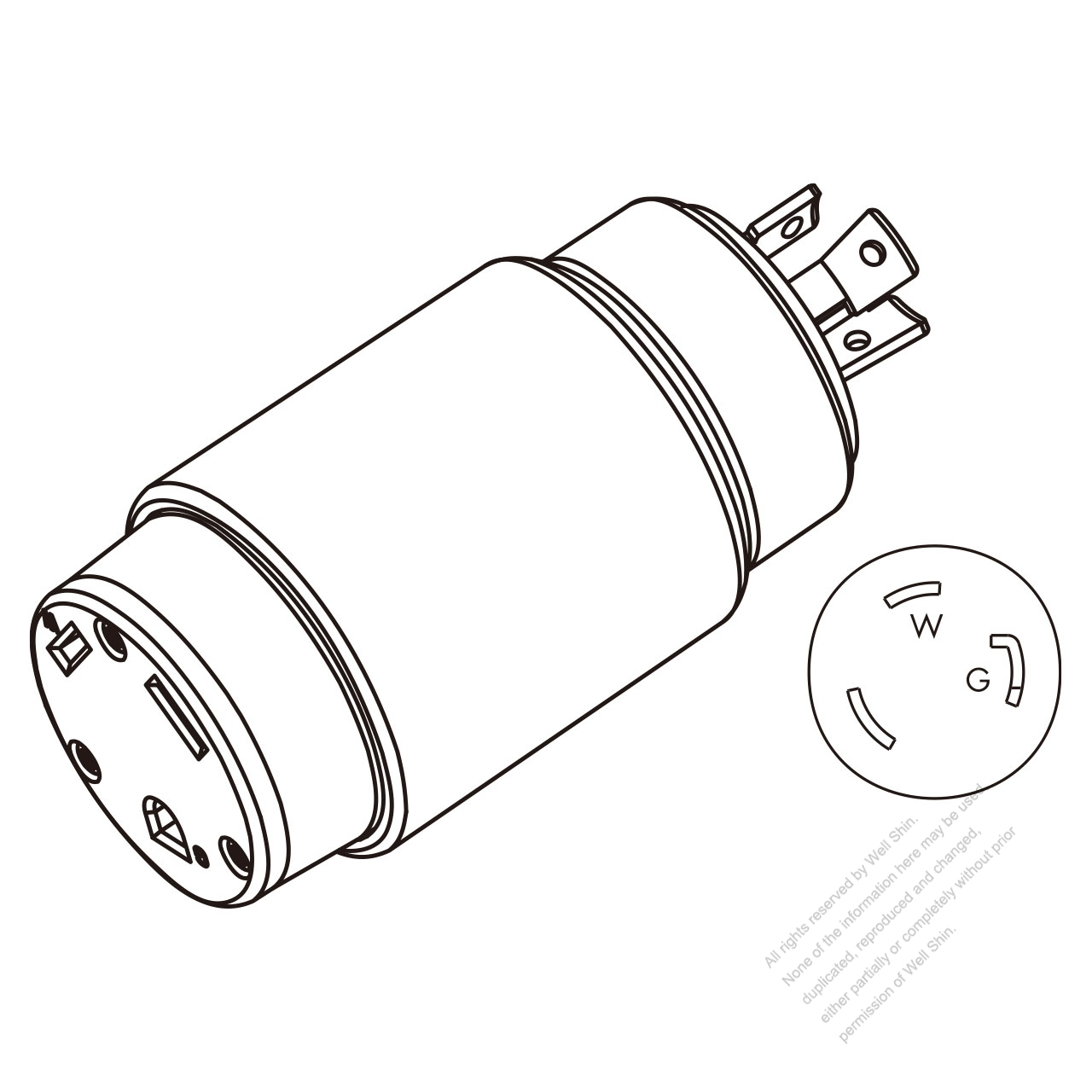 Rv Adapter Plug Nema L5 30p To Tt 30r 2 P 3 Wire