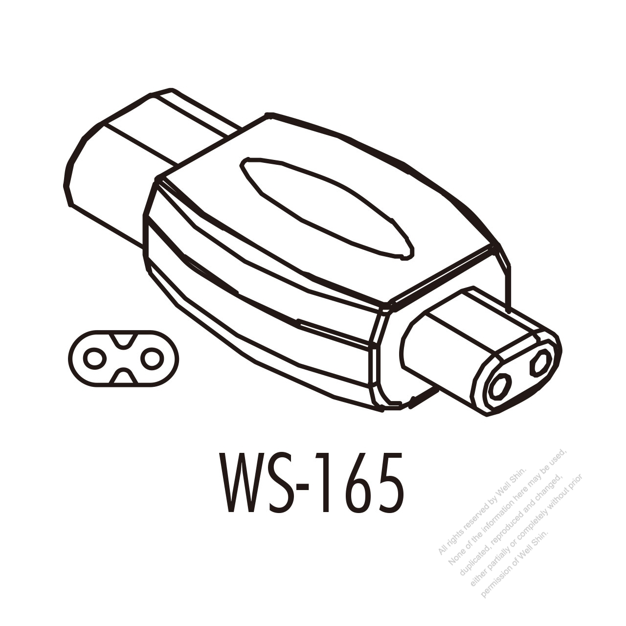 Adapter Plug Iec 320 Sheet C Inlet To C1 Female Connector