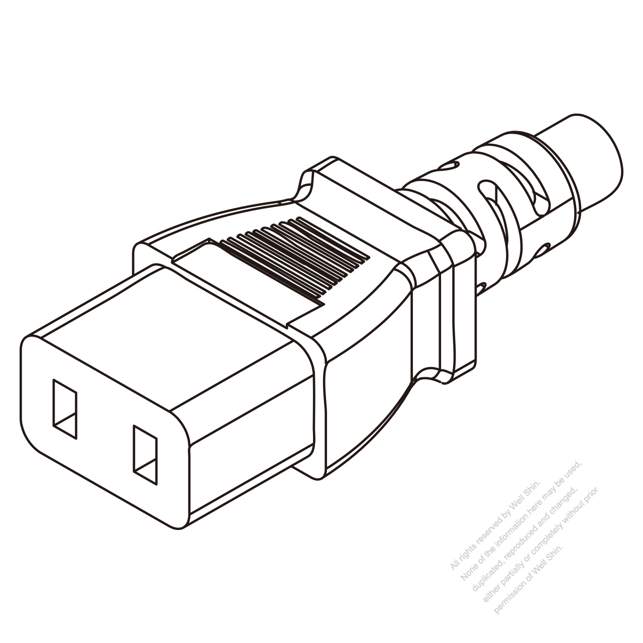 Iec 320 C9 Connectors 2 Pin Straight 6a 250v