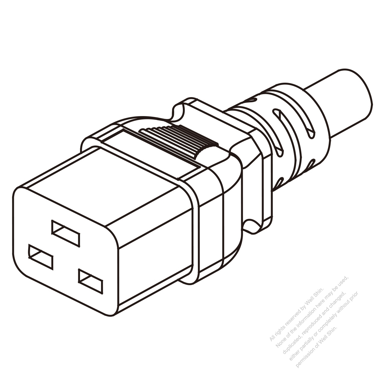 Uk Iec 320 C19 Connectors 3 Pin Straight 16a 250v