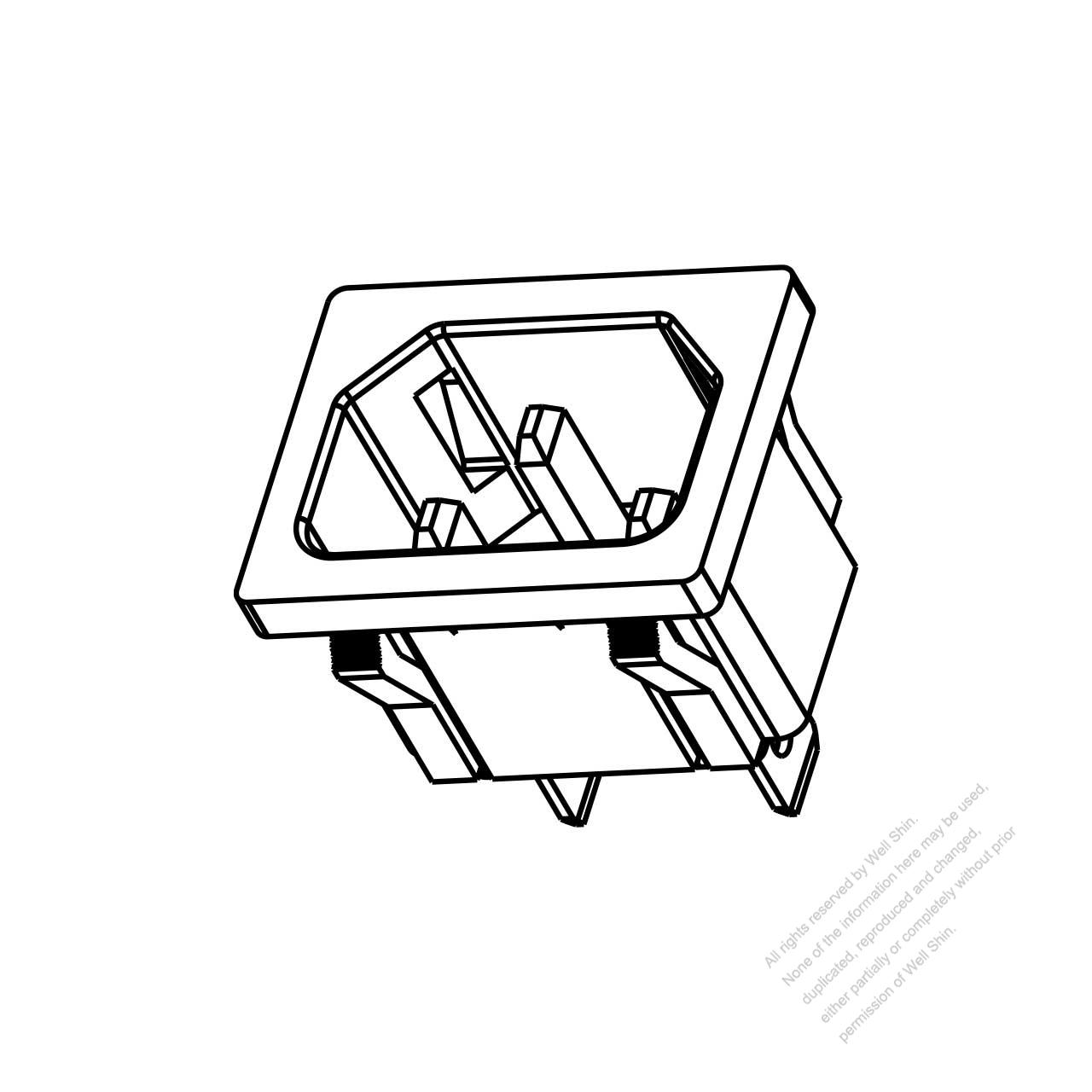Iec 1 C14 Appliance Inlet 10a 250v