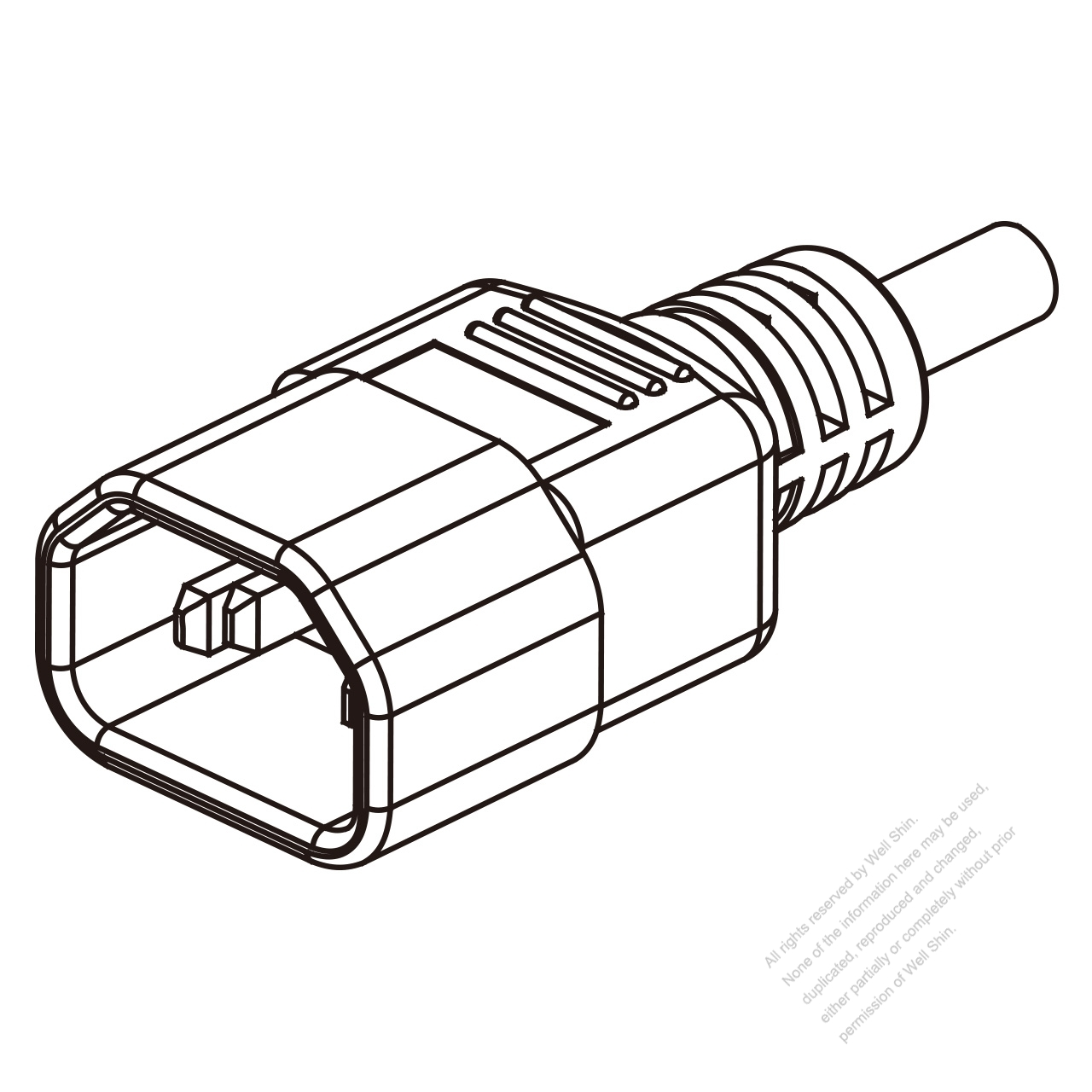 Iec 320 Sheet E C14 Plug Connectors 3 Pin Straight 10a