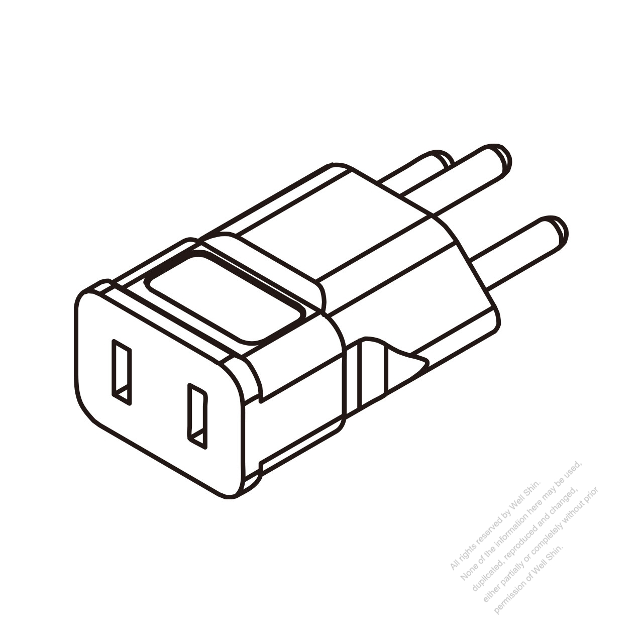 Switzerland Adapter Plug To Nema 1 15r Connector 3 To 2