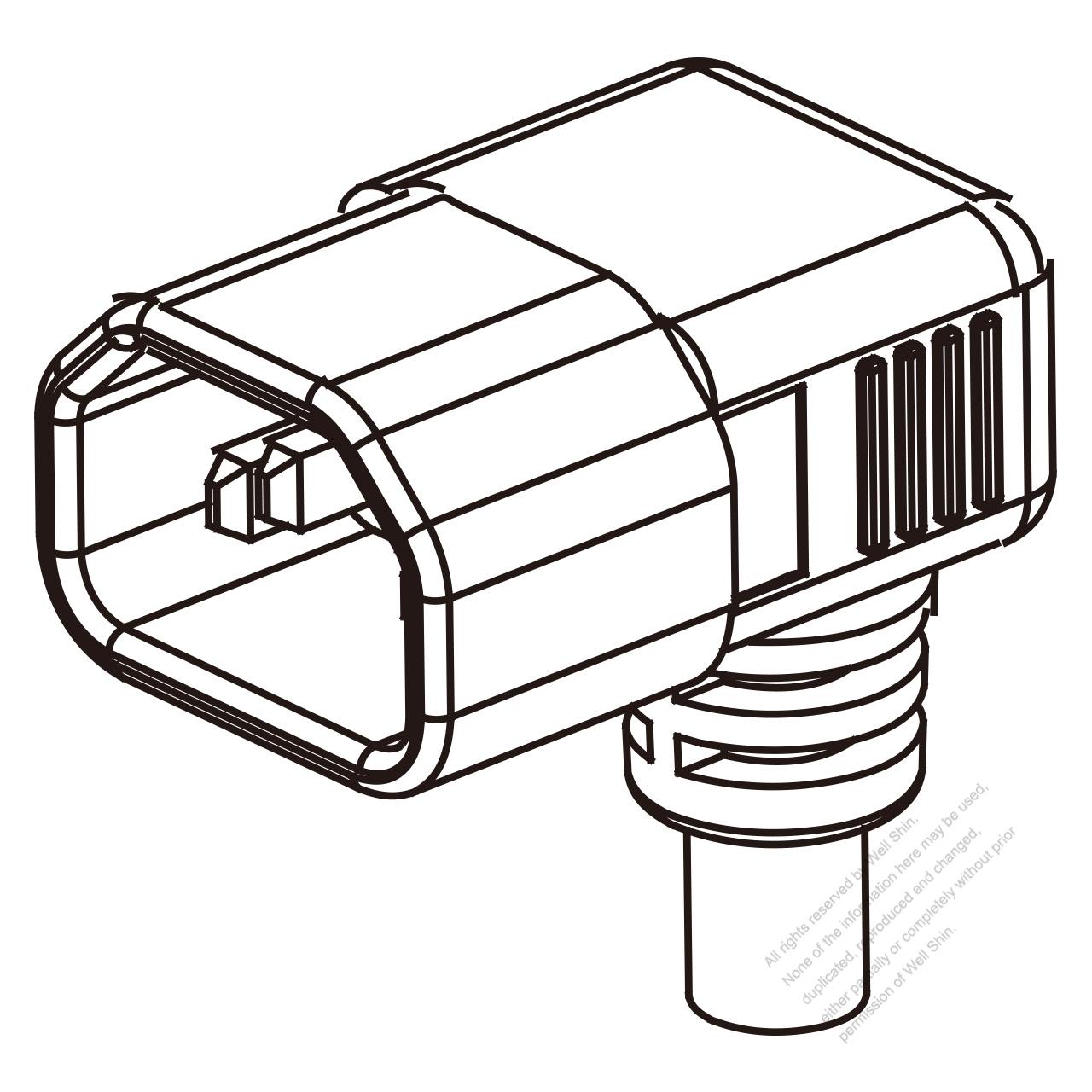 Uk Iec 320 Sheet E C14 Plug Connectors 3 Pin Angle 10a