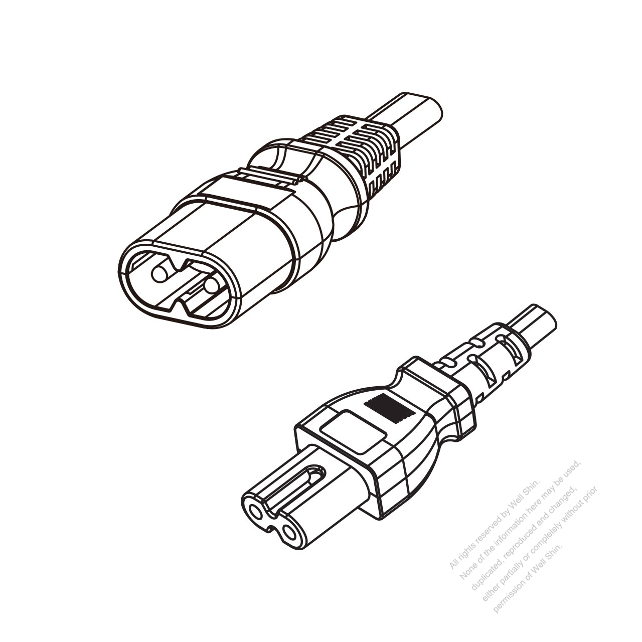 Us Canada 2 Pin Iec 320 Sheet C Plug To Iec 320 C7 Power