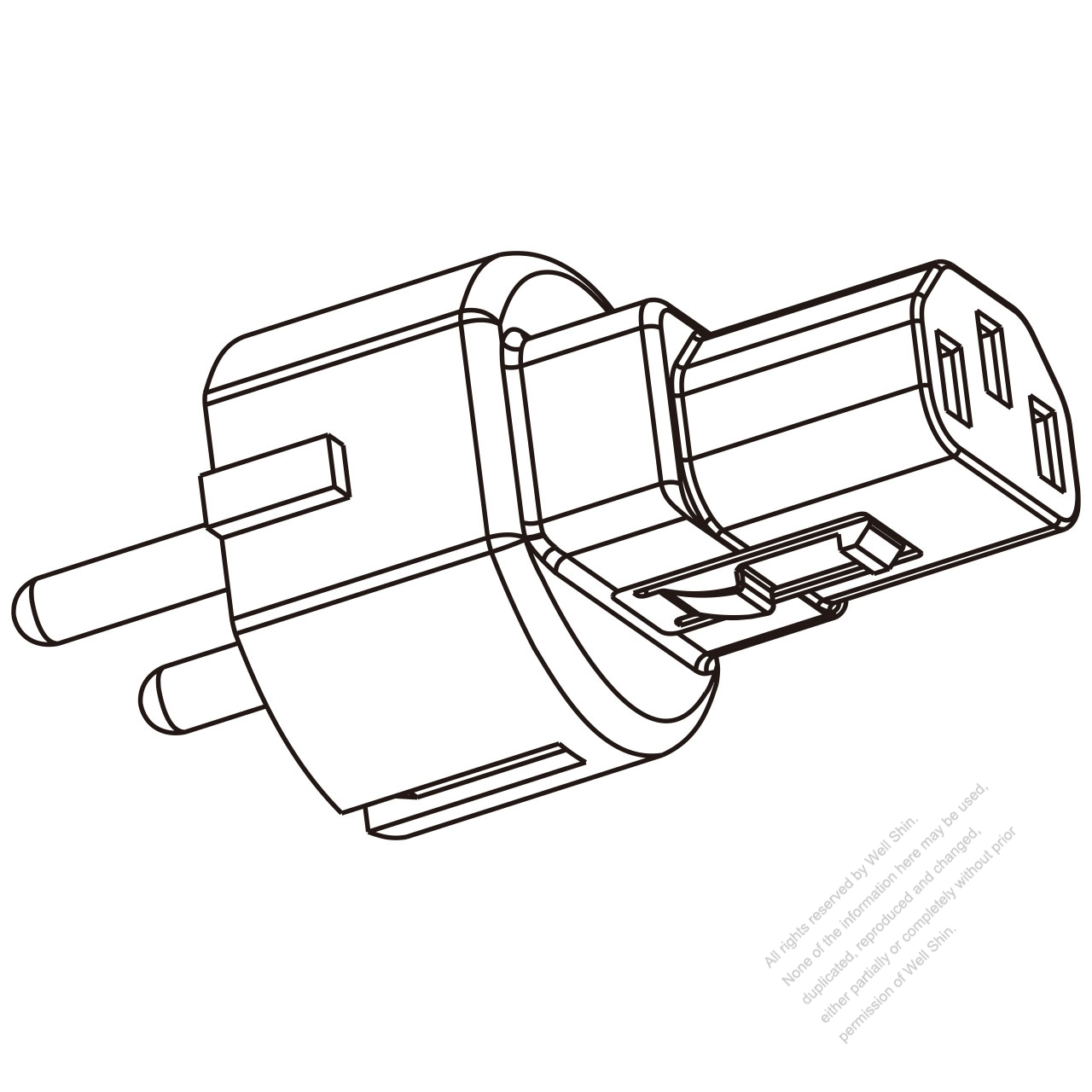 Adapter Plug Israel Type To Iec 320 C13 Female Connector