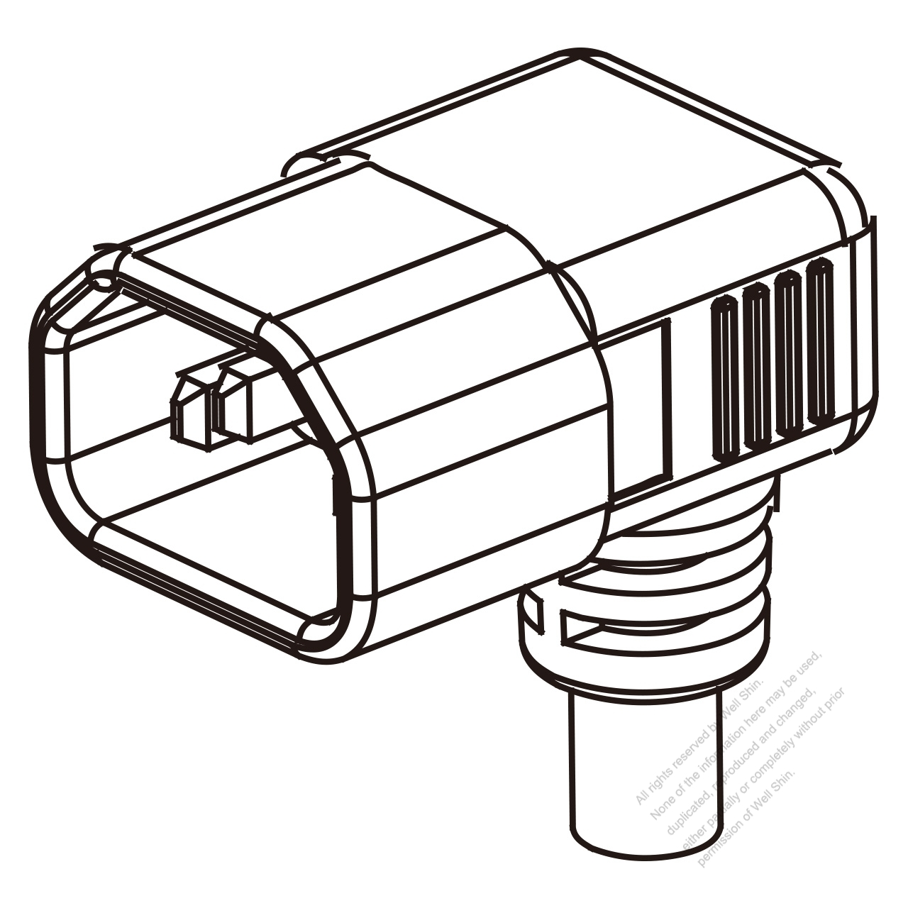 Europe Iec 320 Sheet E C14 Plug Connectors 3 Pin Angle